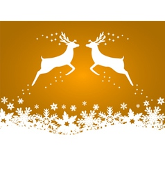 Reindeer with stars snowflakes vector