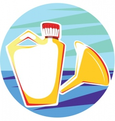 Funnel and container vector