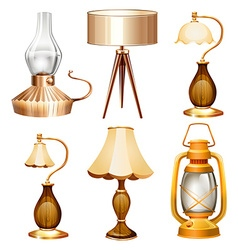 Vintage design of lamps vector