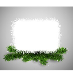 White paper card over christmas eve branches vector