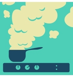 Cooking food in the kitchen vector