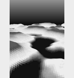Abstract polygonal landscape vector