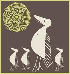amusing stylized birdies vector image