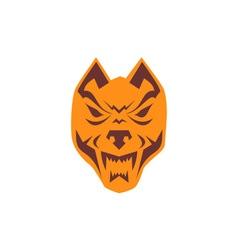 Angry wolf head retro vector