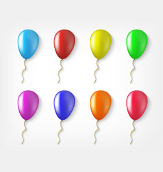 balloons colorful collection of isolated in a vector image vector image