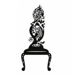 Baroque style chair vector image
