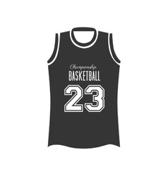Basketball shirt sport vector