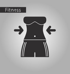 black and white style icon woman body diet vector image