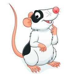 Cute rat pet vector