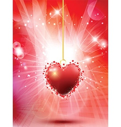Decorative valentines heart background 0601 vector