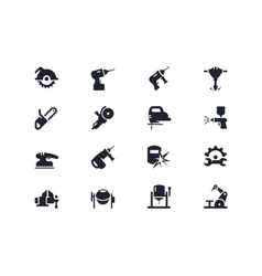 Electric work tools icons Lyra series vector image vector image
