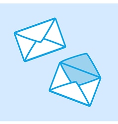 Envelope Icon Simple Blue vector image