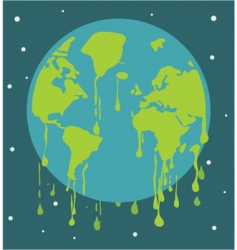 global warming background vector image vector image