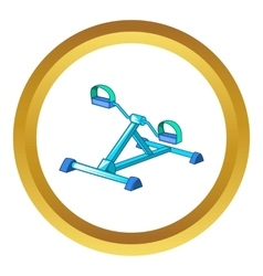 Gym equipment icon vector