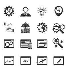 Internet marketing icons set vector