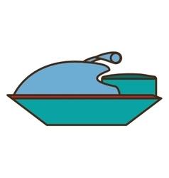 jetski vehicle isolated icon vector image