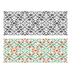 Light seamless floral handicraft painting border vector image vector image