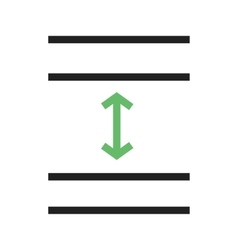 Line spacing vector