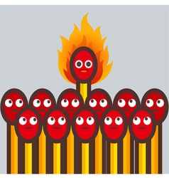 matches Fire vector image vector image
