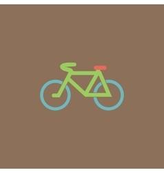 Mountain bike flat icon vector image