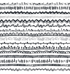 Ornamental ethnic seamless pattern vector image vector image