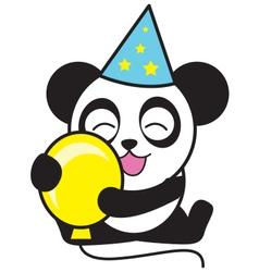 Party Panda vector image vector image