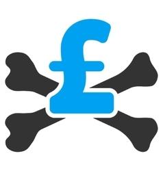 Pound Mortal Debt Flat Icon Symbol vector image vector image