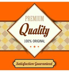 Premium Quality poster retro vintage design vector image vector image