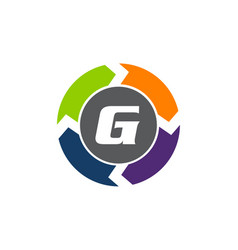 Process planner center letter g vector