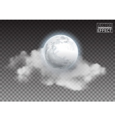Realistic detailed full big moon with clouds vector image vector image