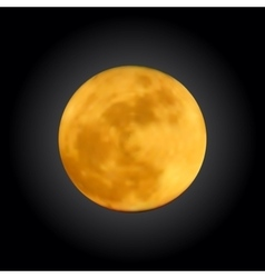 Realistic shining full moon in the dark blue sky vector image vector image
