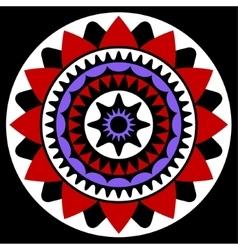 Red purple white and black mandala vector
