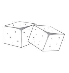 Sugar cubes icon vector