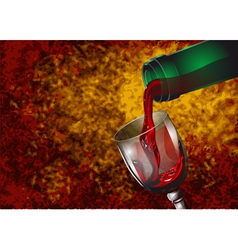 Wine pouring vector