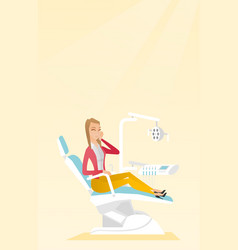 Woman suffering from toothache vector