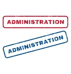 Administration rubber stamps vector