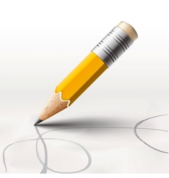 Simple pencil on white background vector