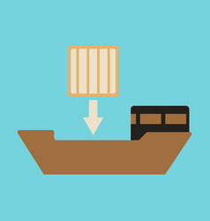 Icon in flat design container loading vector