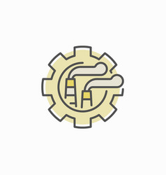 factory in gear concept icon vector image