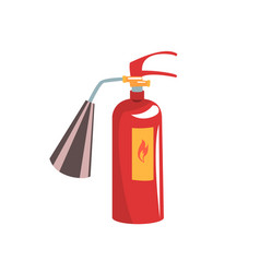 Red fire extinguisher vector