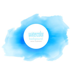 Blue ink watercolor stain background vector