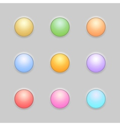 Round button template set vector