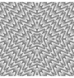 Design seamless monochrome zigzag wave pattern vector