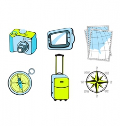 Touristic icons vector