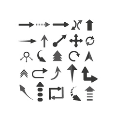 Objects arrows set vector
