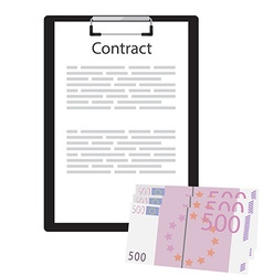 Business contract concept vector