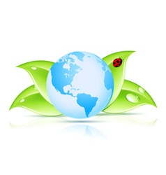 Green earth symbol vector