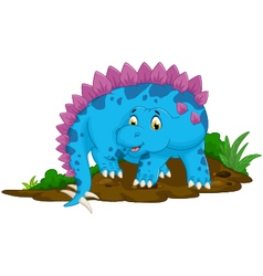 Funny stegosaurus cartoon for you design vector