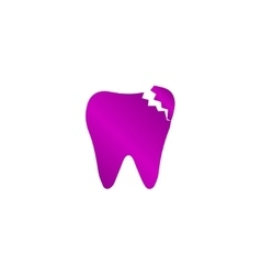Tooth icon flat design style vector