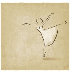 ballerina dancing studio symbol vector image